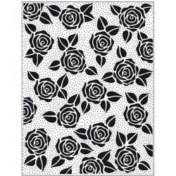 (EFPP-009)Embossing folder Rose Blooms