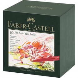 (FC-167150)Faber Castell PITT artist pen B studio box of 60