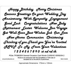 (PCA-TP3963EW)EMBOSSING General Occasions Words CURSIVE Version 2
