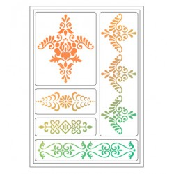 (4004 084 00)Viva Decor Flexible Stencils Ornamente