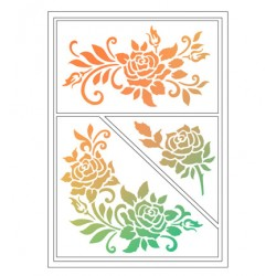 (4004 085 00)Viva Decor Flexible Stencils Roses