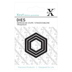 (XCU503616)Mini Die (3pcs) - Nesting Hexagons