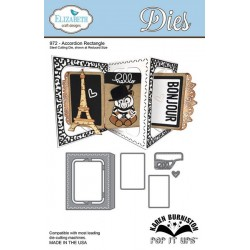 (SKU972)Elizabeth Craft Design Die Accordion RectangleJewelry 1