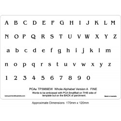 (PCA-TP3969EW)EMBOSSING Whole Alphabet Version A (FINE)