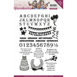(YCCS10009)Clearstamp - Yvonne Creations - Celebrations - Tekst