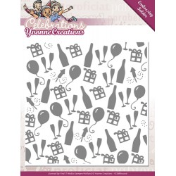 (YCEMB10006)Embossing Folder - Yvonne Creations - Celebrations