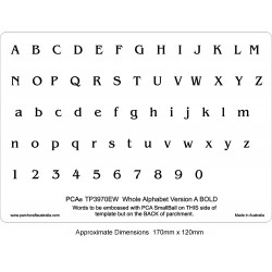 (PCA-TP3970EW)EMBOSSING Whole Alphabet Version A (BOLD)