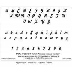 (PCA-TP3971EW)EMBOSSING Whole Alphabet CURSIVE Version 1
