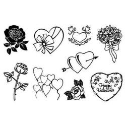 (770004/631)Crea Clear Stamp 9,5 x 14,5 cm Valentijn