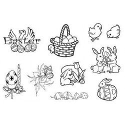 (770004/642)Crea Clear Stamp 9,5 x 14,5 cm Pasen
