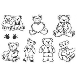 (770004/672)Crea Clear Stamp 9,5 x 14,5 cm Bears