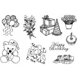 (770004/684)Crea Clear Stamp 9,5 x 14,5 cm Party