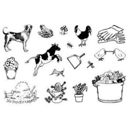 (770004/723)Crea Clear Stamp 9,5 x 14,5 cm Farm