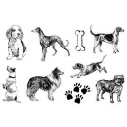 (770004/731)Crea Clear Stamp 9,5 x 14,5 cm Dogs