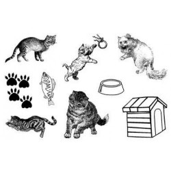 (770004/732)Crea Clear Stamp 9,5 x 14,5 cm Cats