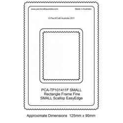 (PCA-TP101411)FINE Small Rectangle Outside Small Scallop EasyEdge