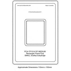(PCA-TP101412)FINE Medium Rectangle Outside Small Scallop EasyEdge