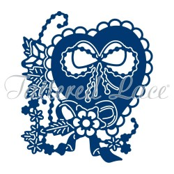 (ACD1173)Tattered Lace Melded Heart