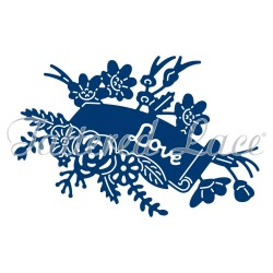 (ACD1168)Tattered Lace Melded HeartTattered Lace Floral Scroll