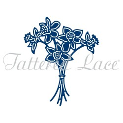 (ACD1086)Tattered Lace Daffodil Bouquet