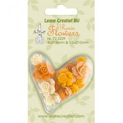 (72.2229)Resin Flowers-Roses Yellow