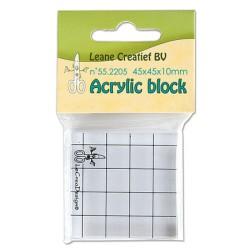 (55.2205)Stamp block clear 45x45x10mm