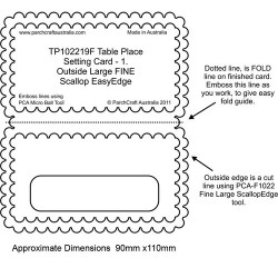 (PCA-TP102219)FINE Table Place Setting Card 1 - Outside Large...
