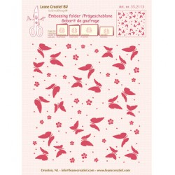 (35.2113)Border embossing Butterflies