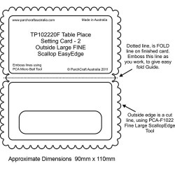 (PCA-TP102220)FINE Table Place Setting Card 2 - Outside Large...