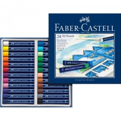 (FC-127024)Faber Castell Oil pastel crayons STUDIO QUALITY 24P.