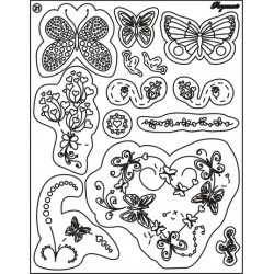 Pergamano Clear stamps butterfly kisses (41921)