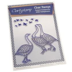 (STA-BI-10041-A5)Claritystamp clear stamp Geese