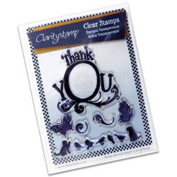 (STA-WO-10215-A5)Claritystamp clear stamp Thank You Framer