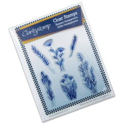 (STA-CH-10226-A5)Claritystamp clear stamp Meadow Grasses