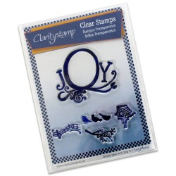 (STA-CH-10185-A5)Claritystamp clear stamp Joy Frame & Birdsong