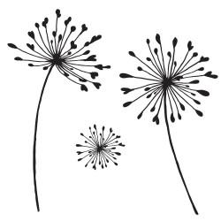 (STA-FL-10015-A5)Claritystamp clear stamp Alliums