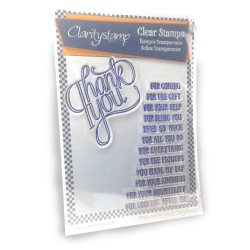 (STA-WO-10044-A5)Claritystamp clear stamp A Million Thank Yous S