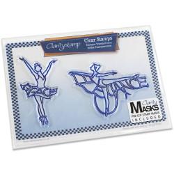 (STA-PE-10072-A5)Claritystamp clear stamp Elegance & Grace