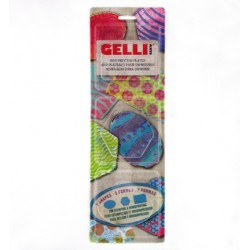 (WHCase)Gelli Printing Plate Oval, Hexagon, & Rectangle