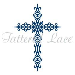 (ACD1257)Tattered Lace Regal Cross