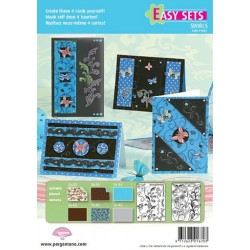 Pergamano Easy card set butterfly kisses 3 (71007)