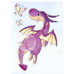 (CL487)stamp A7 set Dragon Flying