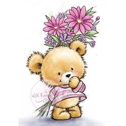 (CL490)stamp A7 set Teddy with flowers