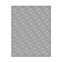 (SES-002)Spellbinders Embossing Folder - Wonky Diamonds