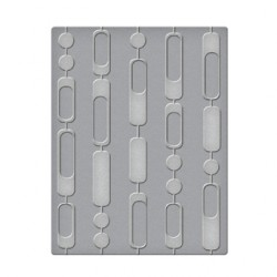 (SES-005)Spellbinders Embossing Folder - Curtain Beads