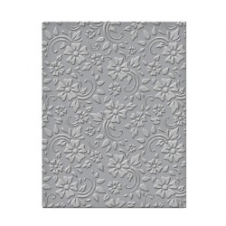 (SES-008)Spellbinders Embossing Folder - Flowers & Leaves