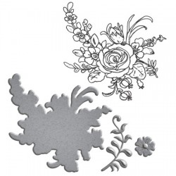 (SDS-020)Spellbinders Stamp/Die Set - Flower Bouquet