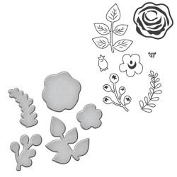 (SDS-012)Spellbinders Stamp/Die Set - Floral Divine