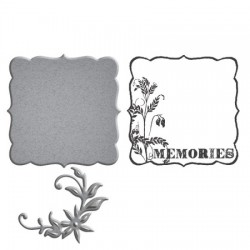 (SDS-024)Spellbinders Stamp/Die Set - Memories