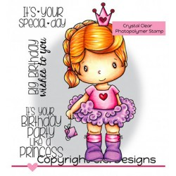 (SW1194)C.C. Designs Stamp clear Swiss Pixie Birthday Princess